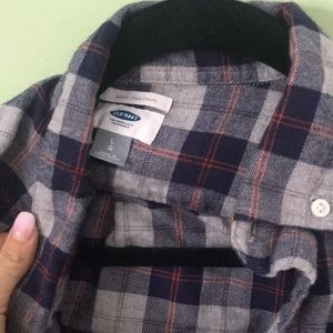 Old navy long sleeve navy flannel